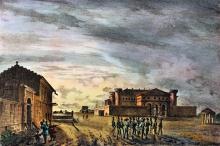 Вид Тюремного замка, Одесса, литография, 1837 г.