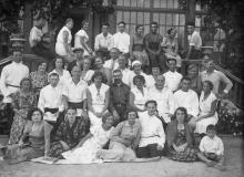 Отдыхающие в доме отдыха ЦК книжников. Одесса, 1935 г.