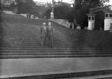 На Потемкинской лестнице. Одесса, 1958 г.