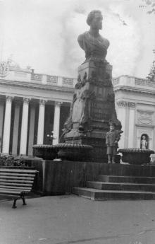 Памятник Пушкину. Одесса, 1958 г.