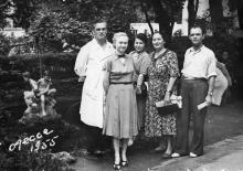 Бульвар Дзержинского (Лидерсовский) №13, территория пансионата «Чайка» Лермонтовского санатория, Одесса, 1955 г.