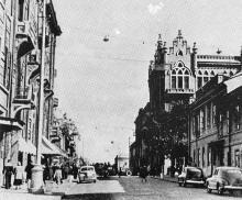 Улица Ласточкина. Одесса. Фотография из путеводителя «Одесса», 5-е издание, 1968 г.