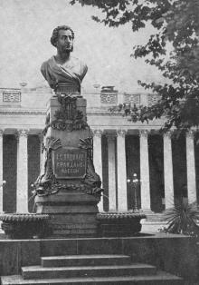 Памятник А.С. Пушкину. Одесса. Фотография из путеводителя «Одесса», 5-е издание, 1968 г.
