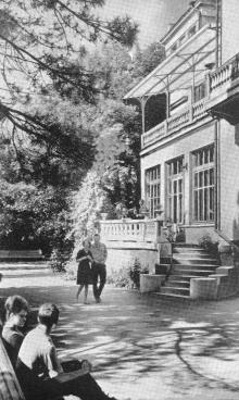Санаторий имени Чувырина. Фотография из краткого справочника «Курорты Одессы». 1966 г.