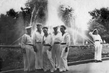 На площади Советской Армии, Одесса, 25 июля 1954 г.