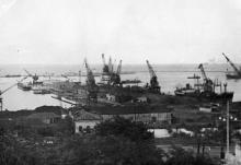 Вид на Одесский порт