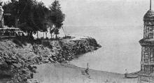 Одесса. Курорт им. т. Семашко (Аркадия). Пляж. Почтовая открытка, 1930-е годы