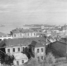 Вид на порт с начала ул. Гоголя. Одесса. 1941 г.