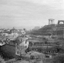 Вид на порт и колоннаду Воронцовского дворца с начала ул. Гоголя. Одесса. 1941 г.