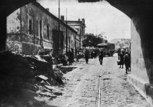 Вид на Строгановский мост. Из фотоальбома, изданного И. Покорным. Одесса, 1914 г.