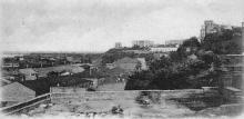 Вид на Воронцовский дворец с ул. Торговой. Одесса. Почтовая открытка