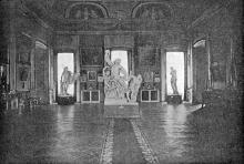 Скульптура «Лаокоон» в зале Галереи старинной живописи (ныне музей западного и восточного искусства). Одесса. 1924 г.