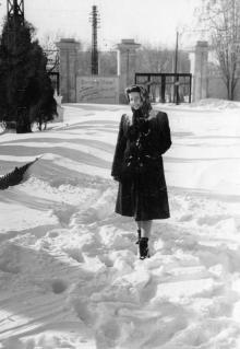 На стадионе «Спартак». Одесса, зима 1956 г.
