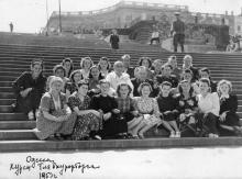 На Потемкинской лестнице, Одесса, 1953 г.