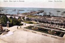 Одесса. Вид порта с бульвара. Открытое письмо. Между 1889 и 1904 гг.