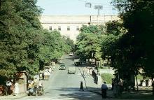 Одесса, ул. Розы Люксембург, вид на мост Коцебу. Фотограф Анатолий Моисеевич Сирота. 1963 г.