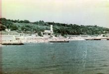 Одесса. Вид с моря на пляж «Дельфин». Фото В. Матеуша. 2006 г.