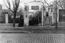 Вход в санаторий им. Ф.Э. Дзержинского с Пролетарского бульвара. Одесса. 1953 г.