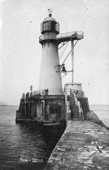Одесса, маяк. Почтовая открытка. 1934 г.
