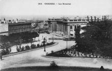 Одесса. Думская площадь, здание биржи, слева Театральный переулок. Открытое письмо. 1890-е гг.