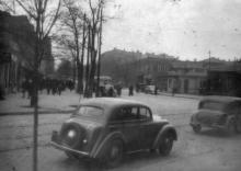 Вид с ул. Советской Армии на площадь 1905 года и ул. Франца Меринга. Одесса, начало 1950-х годов
