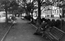 На Приморском бульваре. Одесса, начало 1950-х годов