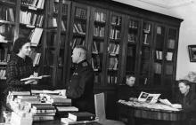 Библиотека санатория им. Дзержинского. Одесса. 1948 г.