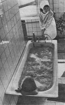 Ванное отделение главного лечебного корпуса санатория им. Дзержинского. Одесса. 1970-е годы