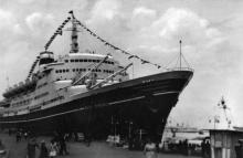В порту. Фото А. Підберьозького. Комплект мініфотографій «Одеса», 1968 р.