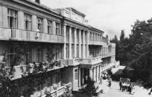 Санаторій «Росія» в Аркадії. Фото А. Підберьозького. Комплект мініфотографій «Одеса», 1968 р.