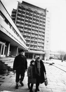 Одесса. В межзаводском оздоровительном комплексе «Строймашевец». Фото И. Павленко, ГАОО. 21 декабря 1987 г.