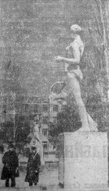 Лермонтовський курорт в Одесі. Фотоетюд А. Подберезького. «Чорноморська комуна», 1939 р.