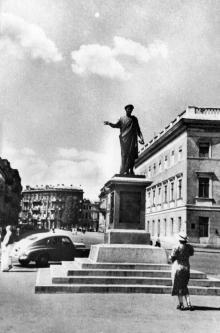 Одеса. Приморський бульвар. Пам'ятник Рішельє