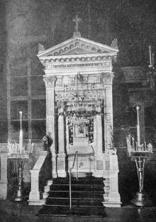 Одесса. Спасо-Преображенский кафедральный собор. Киот, в котором помещалась Касперовская икона Божией Матери