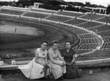 На центральном стадионе ЧМП. Одесса. 1960 г.