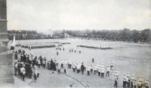 Парад на плацу Одесского кадетского корпуса в честь 10-летия учебного заведенияа. 1909 г.