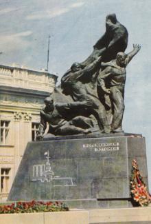 Одесса. Памятник потемкинцам. Цветное фото А.А. Подберезского. БР 06416. Из набора 1966 г.