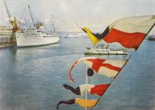 Одесса. В порту. Цветное фото А.А. Подберезского. БР 06416. Из набора 1966 г.