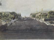Одесса. Потемкинская лестница. Начало строительства эскалатора. Фотограф Геннадий Барвенко