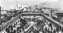 Гостиный ряд (Пале-Рояль). Иллюстрация в книге Я. Майстрового «История Одессы в названиях улиц»
