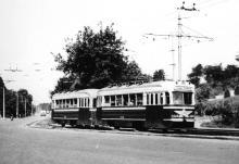 Трамвай 5-го маршрута на пути в Аркадию. Фотограф Hank Ontropp. Одесса, август, 1967 г.