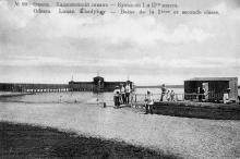 Одесса. Хаджибейский лиман, купальни I и II-го класса. Открытое письмо