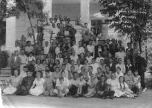 Группа отдыхающих дома отдыха моряков. Одесса. 1940 г.