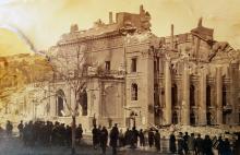 Одесса, здание городского театра после пожара, 1873 г.