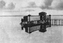 Одесса. Хаджибеевский лиман. Купальни в открытом море. Почтовая карточка