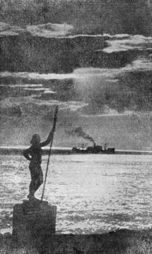 Морской пейзаж. Фотография в справочнике «Курорты Одессы». 1955 г.