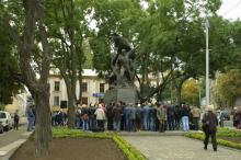 Открытие памятника Потемкинцам на Таможенной площади. Фото О. Владимирского. Одесса. 14 октября 2007 г.