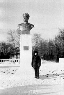 Памятник Г.И. Котовскому в парке им. Котовского. Фотограф Сергей Петренко. Одесса. 1988 г.