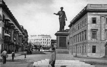 Одесса. Памятник Дюк де Ришелье. Открытое письмо. 1902 г.