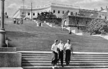 Сходи Потьомкінського повстання. Поштова картка. Фото Я. Таборовського, 1954 р.